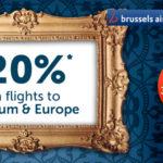 Скидка на авиабилеты в Европу от Brussel Airlines